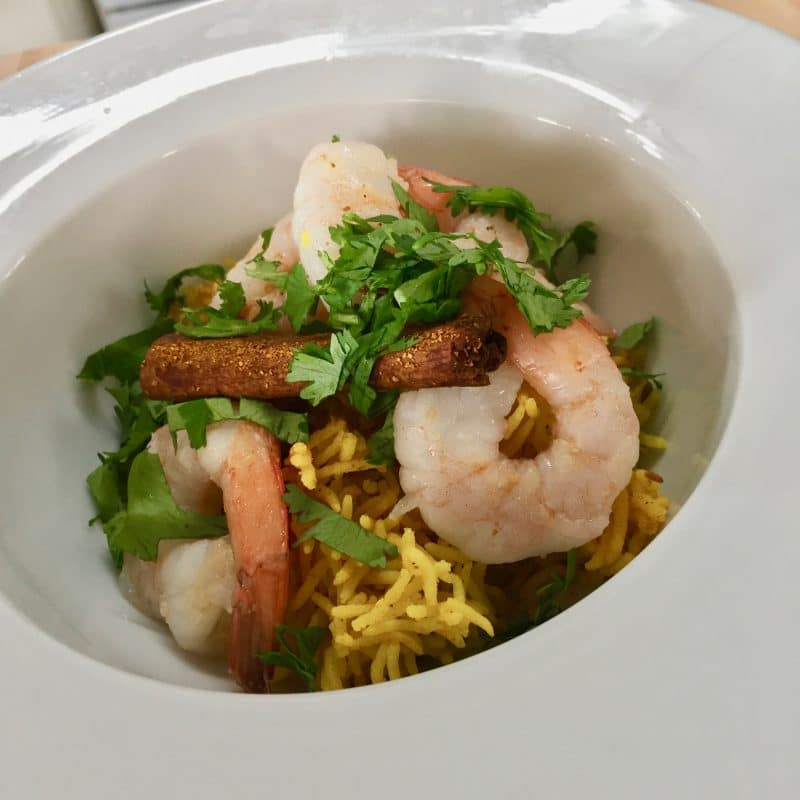 Rice cooker Turmeric basmati rice with Shrimp 2019