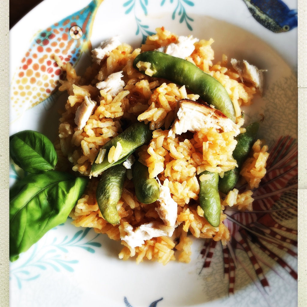 Chicken Red Rice in Rice Cooker