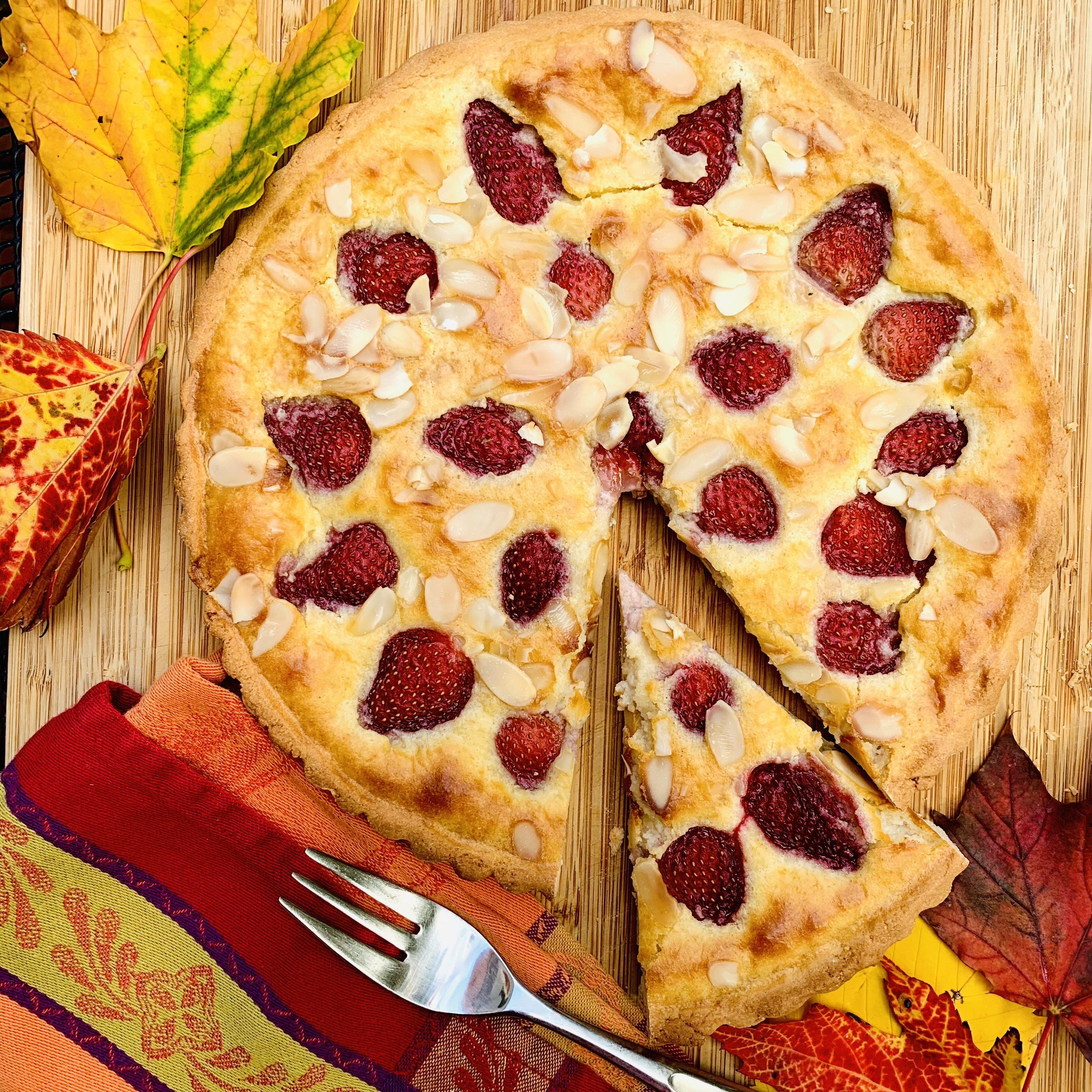 roasted-strawberry-rice-tart